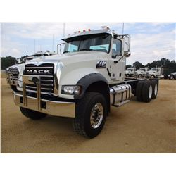 2017 MACK GU713 CAB & CHASSIS, VIN/SN:1M2AX07CXHM036391 - T/A, 455HP MACK MP8 ENGINE, ALLISON A/T, 4