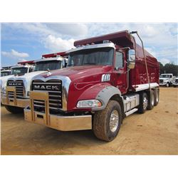 2012 MACK GU813 DUMP, VIN/SN:1M2AX13C2CM016611 - TRI-AXLE, 395 HP MACK MP7 ENGINE, MACK T310M 10 SPD