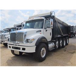 2007 INTERNATIONAL 7600 DUMP, VIN/SN:1HTWYAHT47J390583 - QUAD AXLE, CUMMINS DIESEL ENG, ALLISON 4500