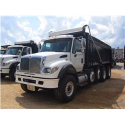 2007 INTERNATIONAL 7600 DUMP, VIN/SN:1HTWYAHT07J390581 - QUAD AXLE, CUMMINS DIESEL ENG, ALLISON 4500