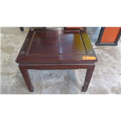 Square Dark Lacquer Side Table (previously had glass top)
