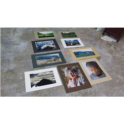 """Qty 9 Photographs: Nature & Bucolic Scenes, Indigenous People (largest is 18.5"""" x 24""""H)"""