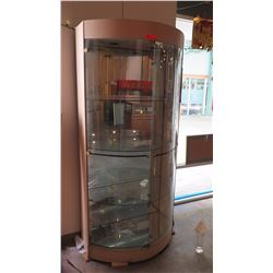 Tall Demilune Glass Display Case