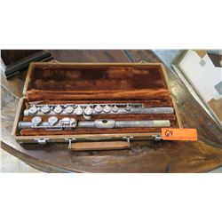 "Old Flute with Case (""Nogales AR12"" engraving)"