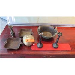 Misc. Antique Bronze/Brass Pieces (Incense Burners, Trays, Bowls, etc.