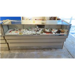 "Commercial Glass Display Case with Storage Drawers 73.5"" L x 20"" Depth x 37.5"" H"