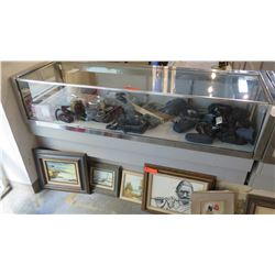 "Commercial Glass Display Case with Storage Drawers 62.5"" L x 20"" Depth x 37.5"" H"