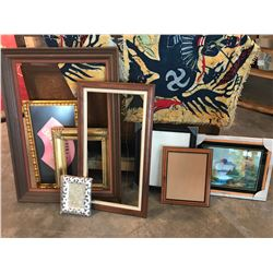 "Large Lot of Misc. Frames (largest frame is 30.5"" x 42"")"