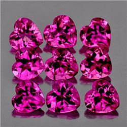 Natural Hot Pink Tourmaline Heart 3.5 mm - VVS