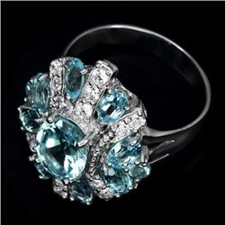 Natural  Sky Blue Topaz 30 Carats  Ring