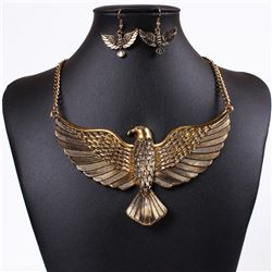 Stunning Golden Eagle Necklace Set