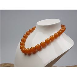 Vintage Natural Baltic Amber Beads Necklace 55.00 Grams