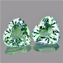 Natural Green Amethyst Heart 9.50 mm - Flawless