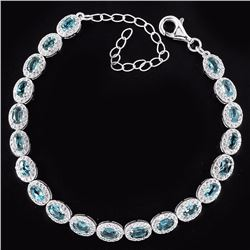 Natural London Blue Topaz 48 Carats  Bracelet