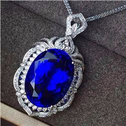 Natural Royal Blue Tanzanite 14.9 Carats Pendant