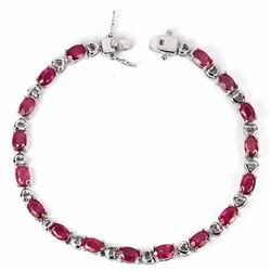 Natural Oval Ruby 60 Carats Bracelet