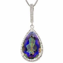 Natural Ocean Mystic & Diamond 5.14 carats Pendant