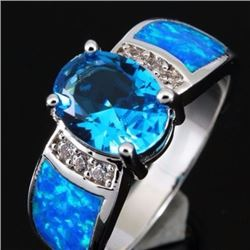 Stunning Fire Swiss Topaz  & Opal Ring