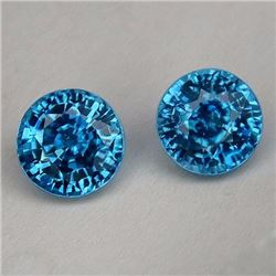 Natural Combodian Rare Blue Zircon 7.60 Ct - VVS