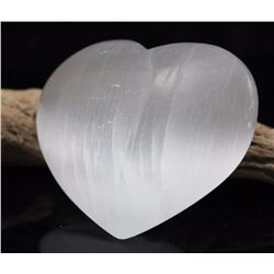 Natural Healing Selenite Heart 575  Carats