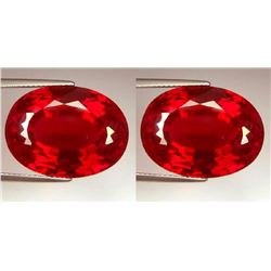 Natural Pigeon Blood/Vivid Red Burma Ruby Pair 0.74 Cts