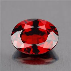Natural Mozambique Garnet 2.82 Cts {Flawless-VVS1}