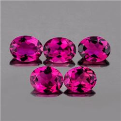 Natural Intense Pink Tourmaline 5x4 MM {Flawless-VVS1}