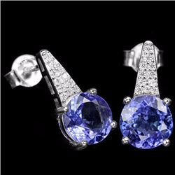 Natural Tanzanite Gemstone Earrings