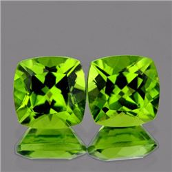 Natural Cushion Peridot Pair 7.00 MM - VVS