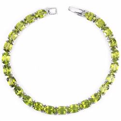 Natural Top Green Peridot 79 Carats Bracelet