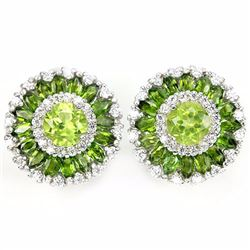 Natural Peridot & Chrome Diopside Earrings