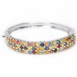 Natural Fancy Color Sapphire 115 Carats Bangle
