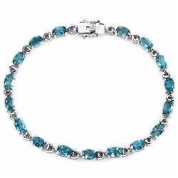 Natural London Blue Topaz 60 Carats Bracelet
