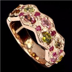 Natural Fancy Tourmaline & Ruby 32 Carats Ring