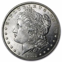 1882 Morgan Silver Dollar BU MS-63
