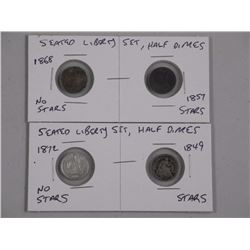 Seated Liberty Set - Half Dimes.