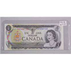 Bank of Canada 1973 * GF One Dollar, 'Replacement'