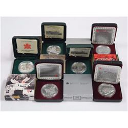 (6) Canadian 925 Sterling Silver Proof Dollars. 19