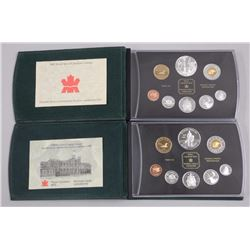 2x RCM .925 Sterling Silver Mint Coin Set