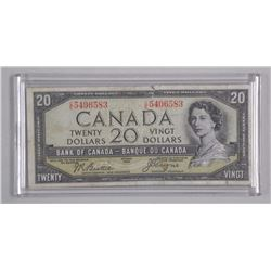 Bank of Canada 1954 $20.00 Devil's Face