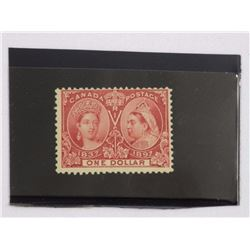1897 Jubilee Canada Post One Dollar Stamp. CAT NO.