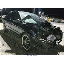 2001 - HONDA CIVIC // SALVAGE TITLE
