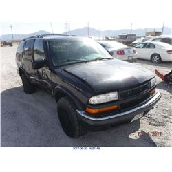 2000 - CHEVROLET BLAZER // SALVAGE TITLE