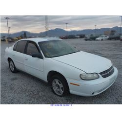 2001 - CHEVROLET MALIBU with TX Title