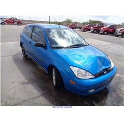 2001 - FORD FOCUS // SALVAGE TITLE