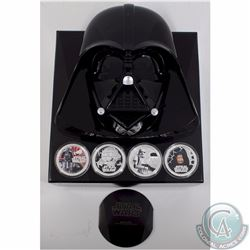 New Zealand Mint Issue: 2011 Darth Vader 4-coin 1oz Fine Silver Coloured Set (Tax Exempt)