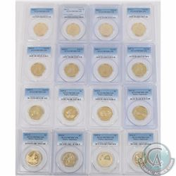 USA; 2000-2016 Sacagawea Native American $1 PCGS Certified PR-70DCAM (Missing the year 2012). 16pcs
