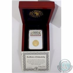 USA; 2007 First Spouse Series Abigail Adams $10 1/2oz .9999 Gold NGC Certified PF-70 Ultra Cameo. Co
