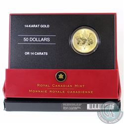 RCM Issue: 2005 Canada $50 14K Gold 60th Anniversary of the End of WWII Coin.