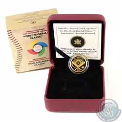 RCM Issue: 2013 Canada $75 Baseball Diamond 1/4oz Fine Gold Coin (Tax Exempt)
